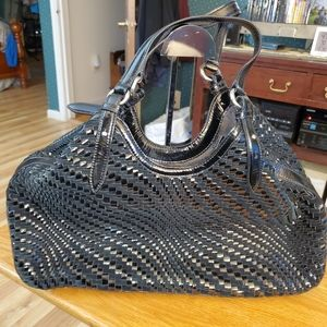 💜COLE HAAN XL GENEVIEVE WOVEN TRIANGLE TOTE